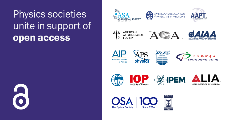 Physics societies unite in support of open access