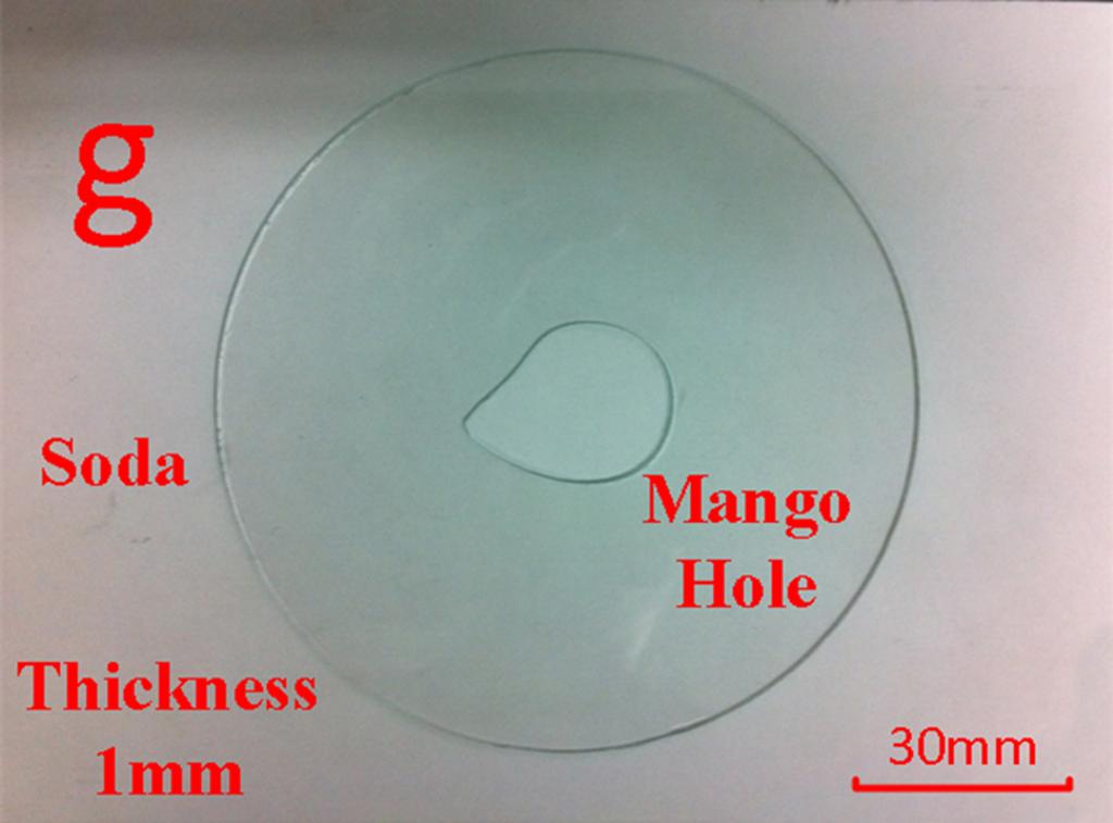 Fig. 4. A mango shape hole