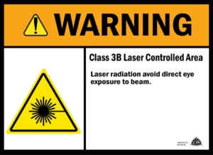 Class 3B safety sign