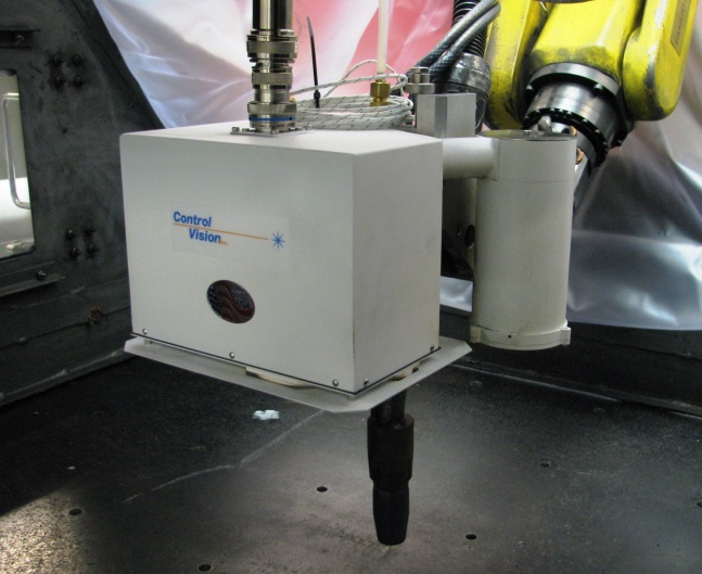 Figure 2. Keystone lightweight integrated sensor head mounted onto a robotic end arm